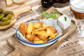 еда, картофель, огурцы, соус