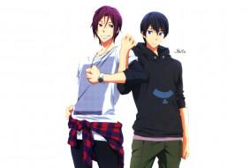 аниме, free, haru, rin
