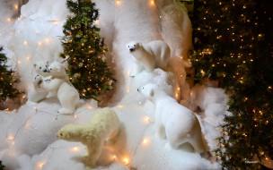 праздничные, фигурки, медведи