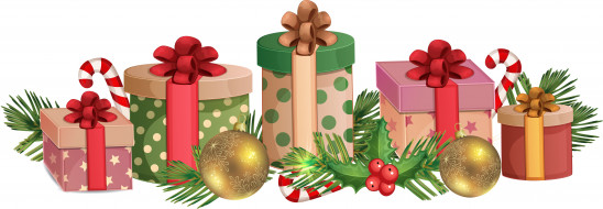 праздничные, векторная графика , новый год, подарки