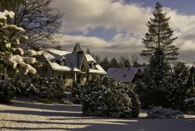 города, - здания,  дома, зима