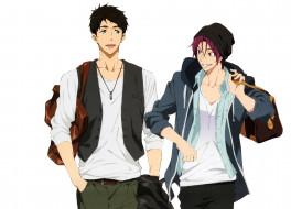 аниме, free, sousuke, rin