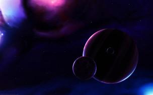 обои для рабочего стола 1920x1200 космос, арт, тёмный, планета