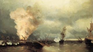 при выборге, айвазовский иван, морское сражение