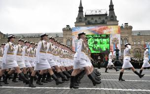 праздничные, день победы, красная, площадь, курсанты, университета, россии, военного, день, победы, 9, мая, обороны, парад