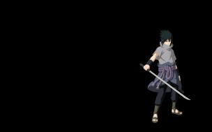 обои для рабочего стола 1920x1200 аниме, naruto, шиноби, меч, саске, учиха