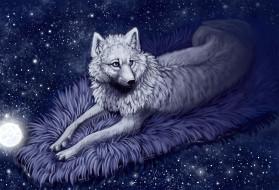 волк, фон