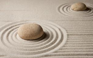 камни, zen, песок, sand, stone