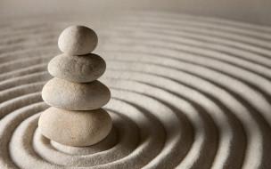 песок, zen, камни, sand, stone
