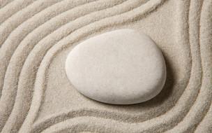 камни, zen, песок, stone, sand