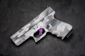 пистолет, фон, макро, glock 19