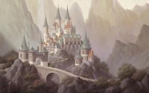 дворец, арт, горы