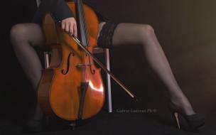 девушка, виолончель