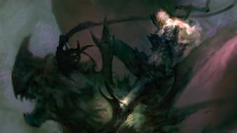 монстр, человек, шипы