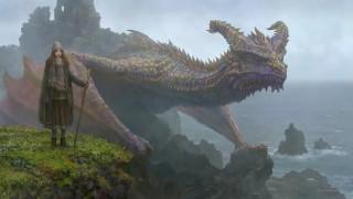 фэнтези, красавицы и чудовища, дракон, девушка
