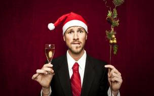 шампанское, колпак, праздник