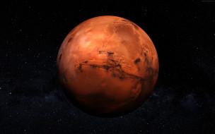 космос, марс, красная, планета, в, космосе