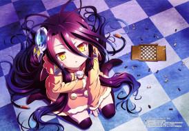аниме, no game no life, девушка