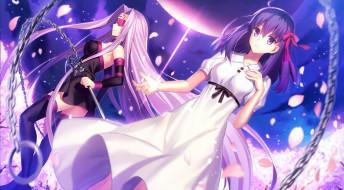 аниме, fate, stay night, девушки