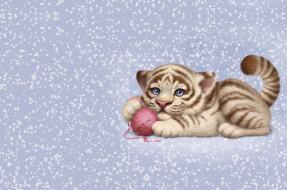тигрушка, Animals, игра, детская, Aleksandra Chelysheva, клубок, котёнок