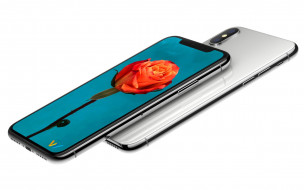 Новый смартфон iPhone X, 2017 на белом фоне