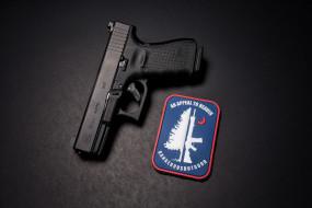оружие, пистолеты, макро, фон, пистолет, glock, 19