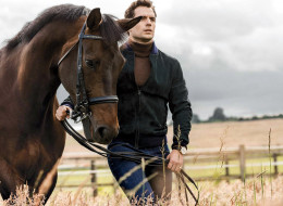 мужчины, henry cavill, лошадь