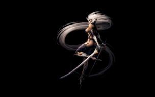 фэнтези, эльфы, девушка, мечи, эльфийка, блондинка