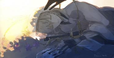 обои для рабочего стола 2109x1080 аниме, touken ranbu, танец, мечей