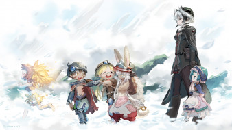 аниме, made in abyss, дети