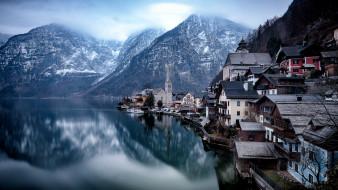 hallstatt, города, гальштат , австрия, озеро, горы