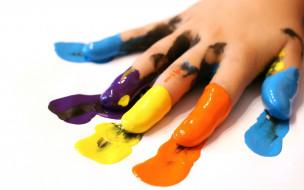 разноцветные, краски