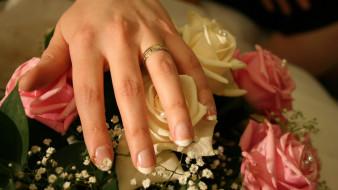 розы, обручальное, кольцо