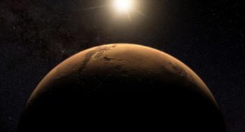 марс, звезды, планета, поверхность