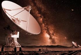 ночь, небо, антена
