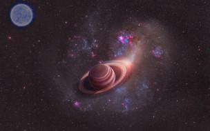 космос, сатурн, звезды, вселенная, планеты, галактика