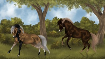 лошади, Фон