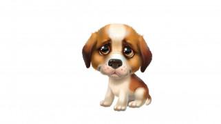 рисованное, животные, собачка, милая