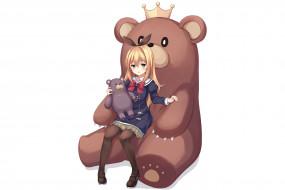 аниме, new game, девушка, взгляд, фон