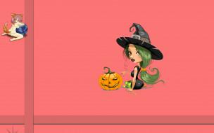 тыква, логотип, фон, Halloween