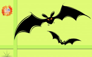 Halloween, логотип, фон