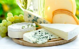 сыр, ассорти, виноград