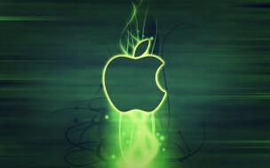 бренд, Apple, яблоко, логотип, свечение