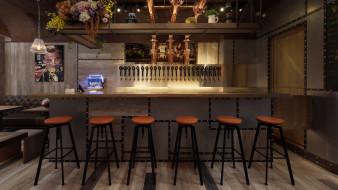 интерьер, кафе,  рестораны,  отели, стиль, барная, стойка