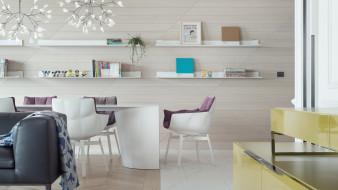 интерьер, кабинет,  библиотека,  офис, офис, стол, стиль