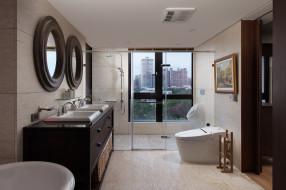 интерьер, ванная и туалетная комнаты, ванная, стиль, дизайн