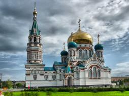 успенский собор омск, города, - православные церкви,  монастыри, храм, россия, омск, успенский, собор