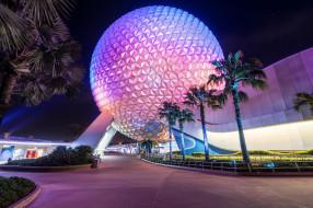 glorious spaceship earth, города, диснейленд, павильон, парк
