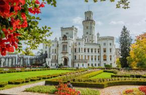 hluboka castle, города, замки Чехии, парк, замок