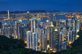 hong kong, города, гонконг , китай, небоскребы, панорама